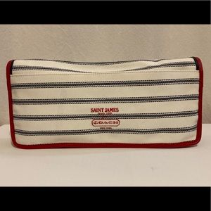 Coach St. James Legacy Nautical Striped Clutch